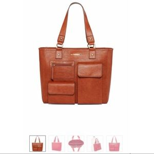 Liz Claiborne Rose Laptop Tote Bag